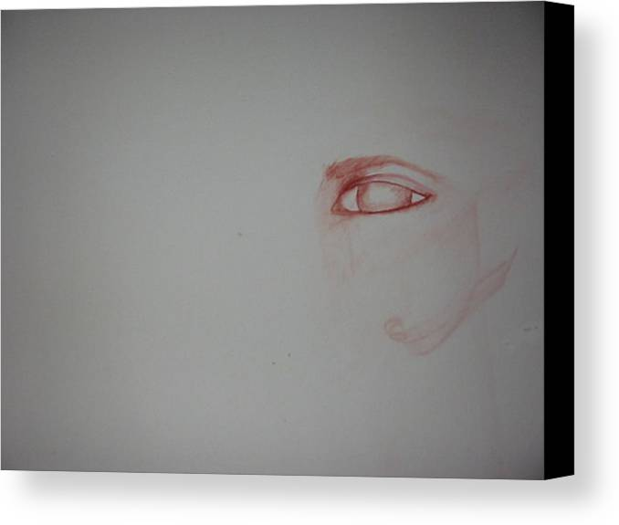Watercolor Eye Art Canvas Print featuring the painting Just An Eye by Marian Hebert