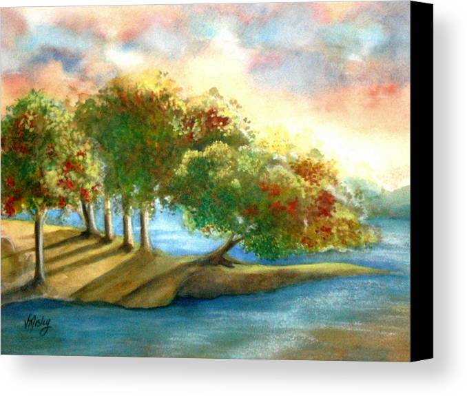 Landscape Canvas Print featuring the painting Just My Imagination by Vivian Mosley
