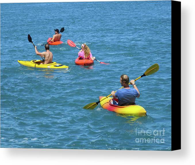 Kayaks Canvas Print featuring the photograph Kayaking Friends by Ann Horn