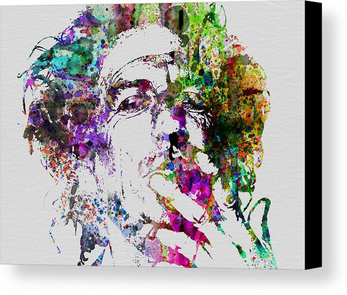 Keith Richards Canvas Print featuring the painting Keith Richards by Naxart Studio