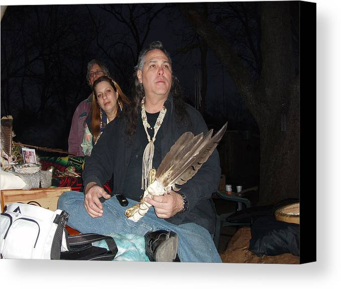 Native American Paintings Canvas Print featuring the photograph Kicking Bear Productions Team by Kicking Bear Productions