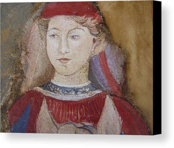 Fresco Canvas Print featuring the painting Knight by Maria Grazia Repetto