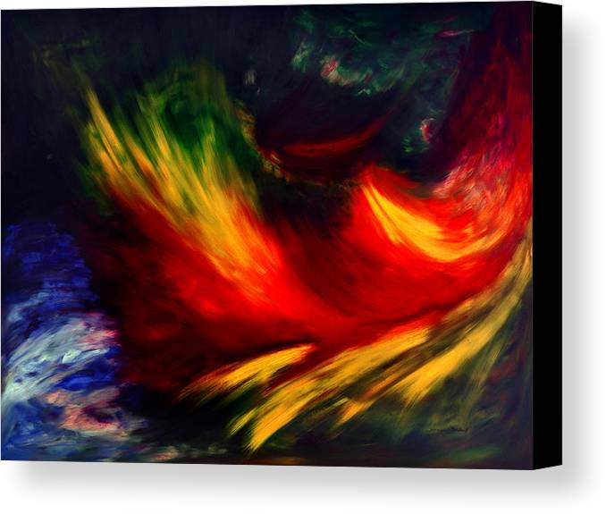 Abstract Canvas Print featuring the painting La Fleur Du Paradis by Dominique Boutaud