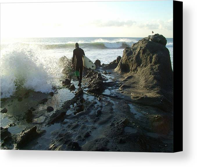 Surfer Canvas Print featuring the photograph Laguna Surfer by John Loyd Rushing
