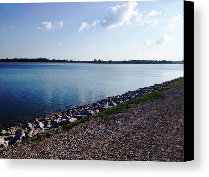 Lake Canvas Print featuring the photograph Lake Front by Taylor McClish