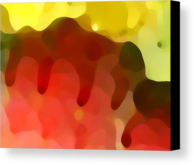 Abstract Canvas Print featuring the painting Las Tunas Ridge by Amy Vangsgard