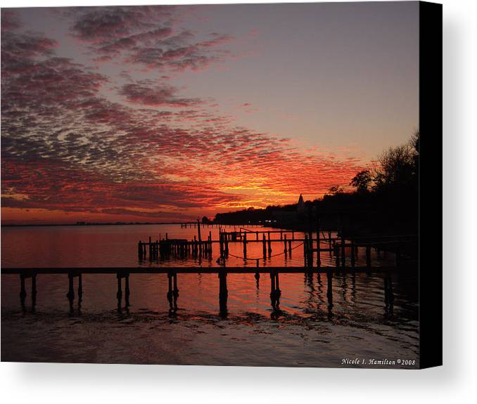 Sunset Canvas Print featuring the photograph Late In The Day by Nicole I Hamilton
