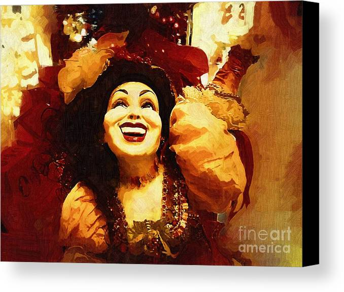 Gypsy Canvas Print featuring the painting Laughing Gypsy by Deborah MacQuarrie-Selib