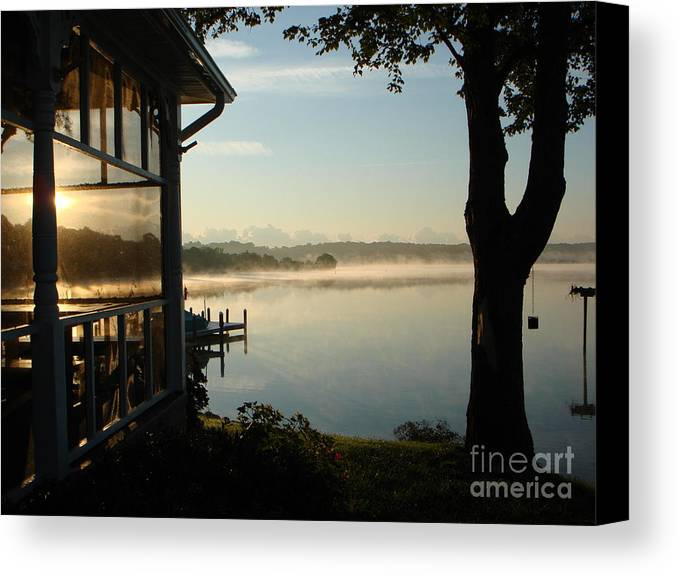Breton Bay Canvas Print featuring the photograph Lazy Morning On The Bay by PJ Cloud