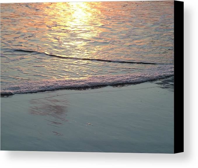 Ocean Canvas Print featuring the photograph Light On The Water by John Loyd Rushing