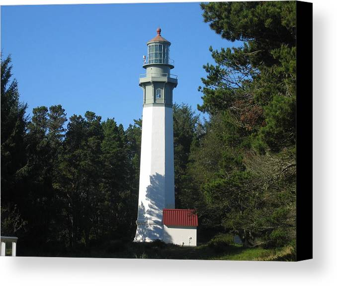 Canvas Print featuring the digital art Lighthouse by Barb Morton