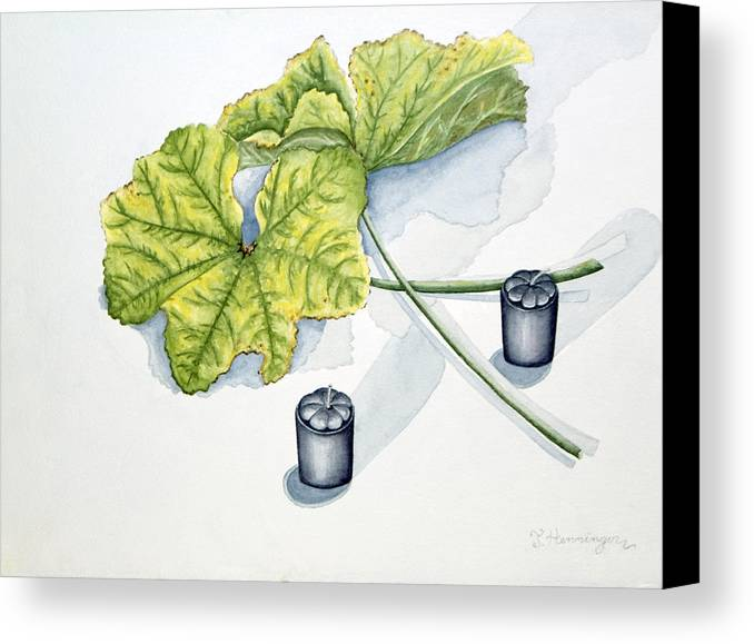Candles Canvas Print featuring the painting Little Black Candles by Judy Henninger