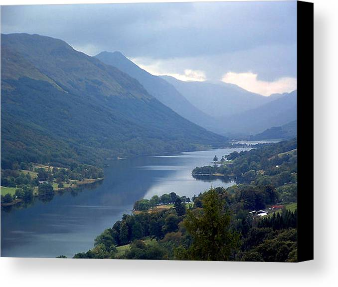 Loch Canvas Print featuring the photograph Loch Voil by Paul Boast