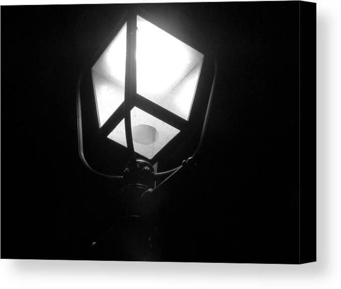 Street Lamp Canvas Print featuring the photograph Lone Beacon by Mike Norkin