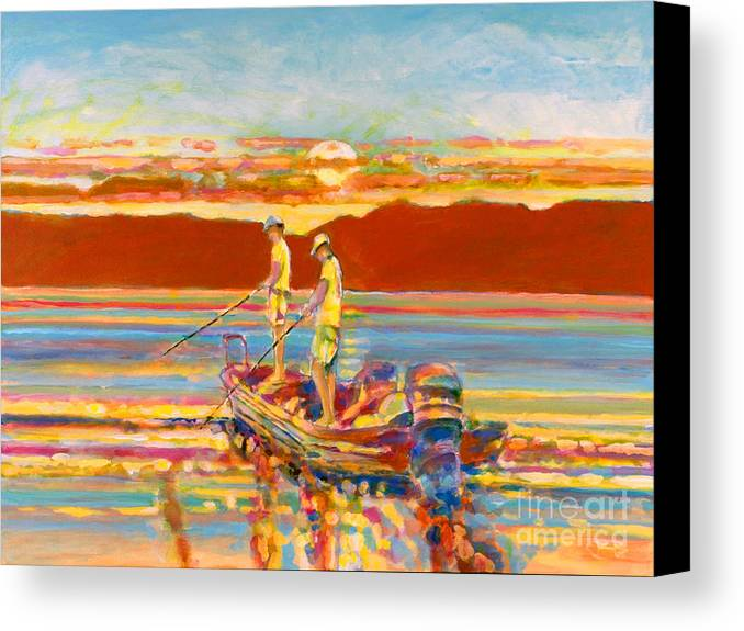Fishing Canvas Print featuring the painting Looking For The Big One by Kip Decker