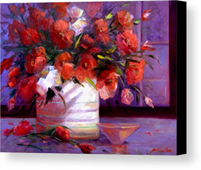 Floral Canvas Print featuring the painting Love You Susi  by Gail Salitui