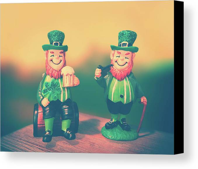 Saint Patricks Day Canvas Print featuring the photograph Lucky by Iryna Goodall