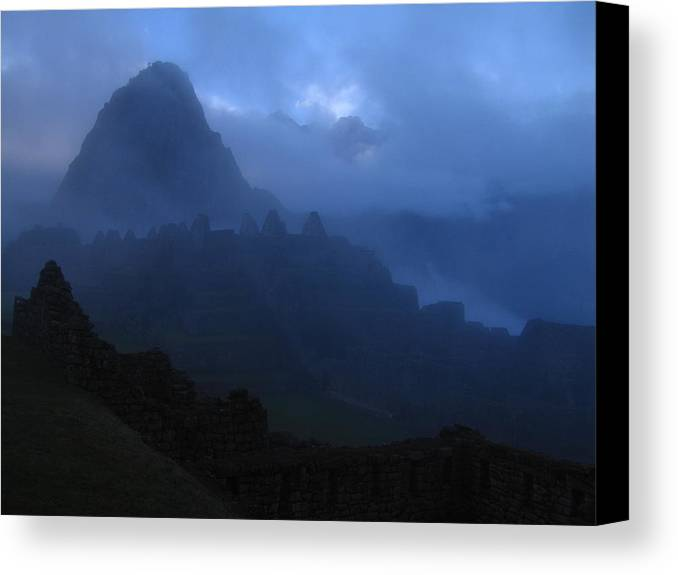 Landscape Canvas Print featuring the photograph Machu Picchu Dawn by Sam Oppenheim