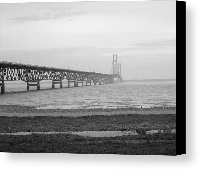 Michigan Canvas Print featuring the photograph Mackinaw Bridge by Scott Hovind