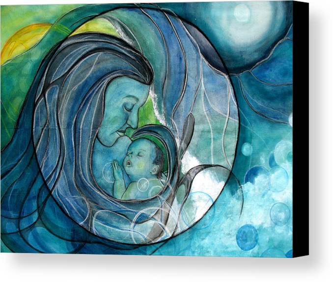 Mom Canvas Print featuring the painting Makuahine by Kimberly Kirk
