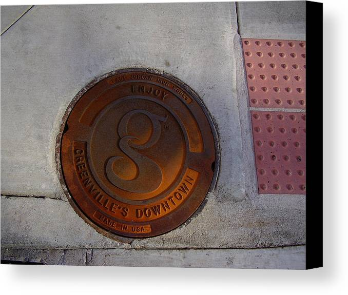 Manhole Canvas Print featuring the photograph Manhole I by Flavia Westerwelle