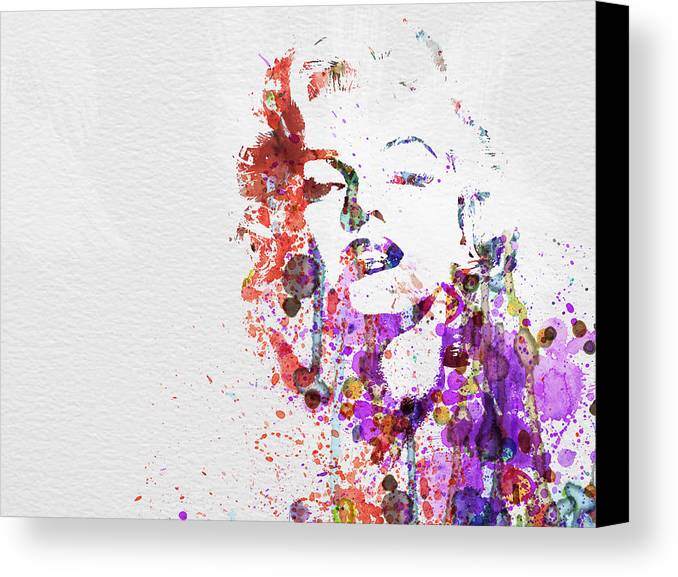 Marilyn Monroe Canvas Print featuring the painting Marilyn Monroe by Naxart Studio
