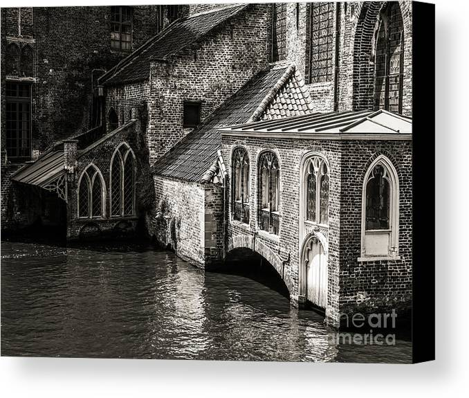 Beautiful Bruges Series By Lexa Harpell Canvas Print featuring the photograph Medieval Architecture Of Bruges by Lexa Harpell