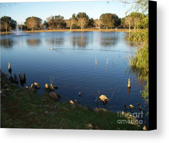 Meet Me At The Fountain Canvas Print featuring the photograph Meet Me At The Fountain by Seaux-N-Seau Soileau