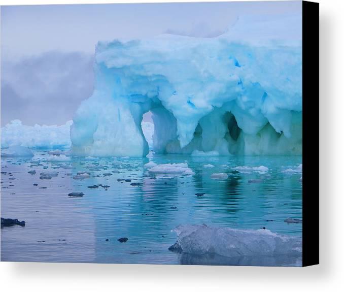Iceberg Canvas Print featuring the photograph Melting Iceberg by Harry Coburn