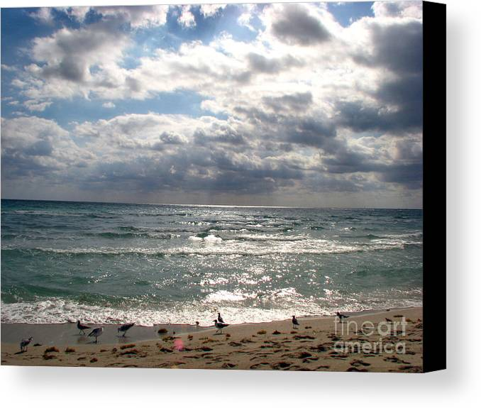 Miami Canvas Print featuring the photograph Miami Beach by Amanda Barcon