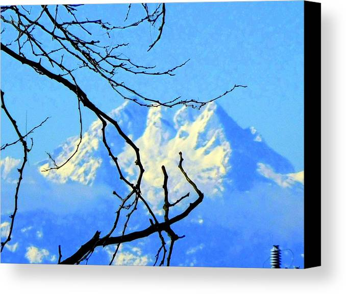 Olympics. Mountain Canvas Print featuring the photograph Mid Winter by Maro Kentros