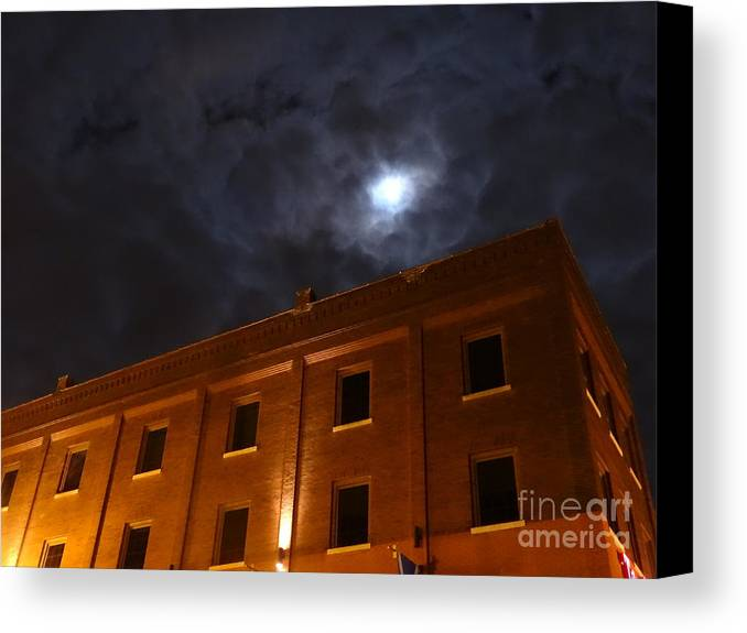 Justin Moore Canvas Print featuring the photograph Moon Lit Tilted Kilt by Justin Moore