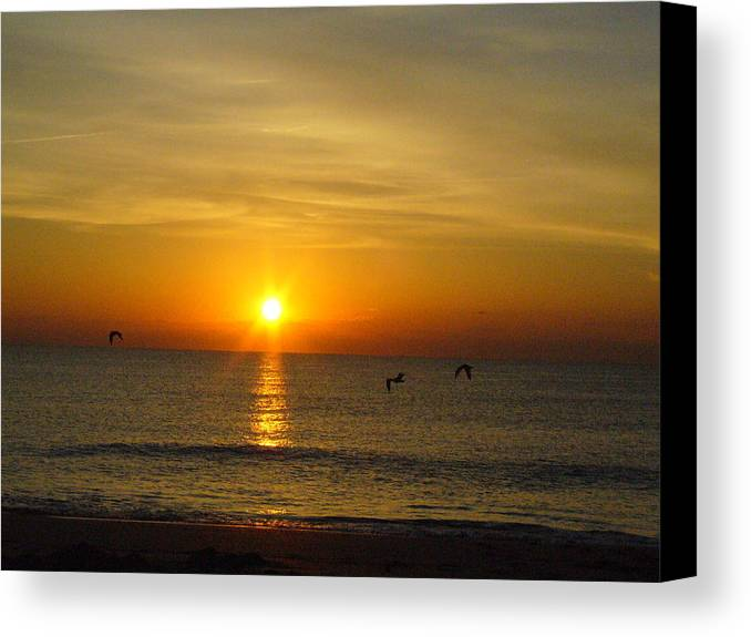 Ocean Canvas Print featuring the photograph Morning Has Broken by Peggy King