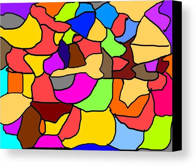 Mosaic Canvas Print featuring the digital art Mosaic by George Ursu
