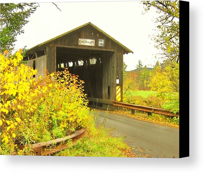 Nh Canvas Print featuring the photograph Mount Orne Covered Bridge by Wayne Toutaint