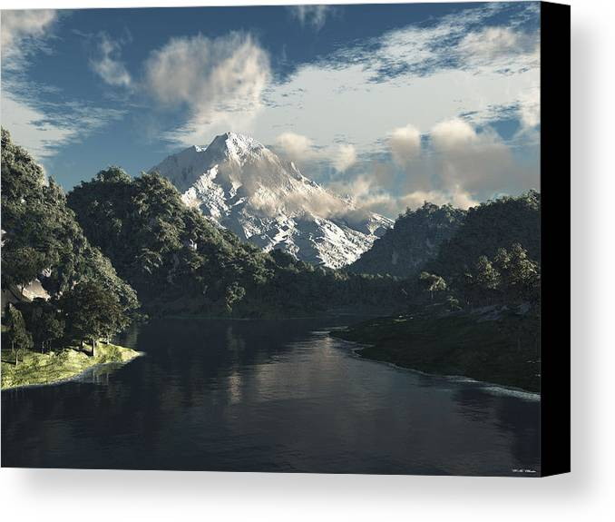 3d Canvas Print featuring the painting Mount Rainier by Williem McWhorter