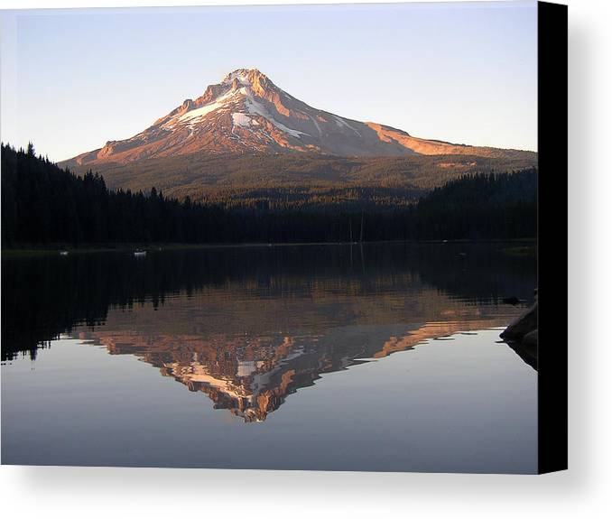 Nature Canvas Print featuring the photograph Mt Hood by Eric Workman