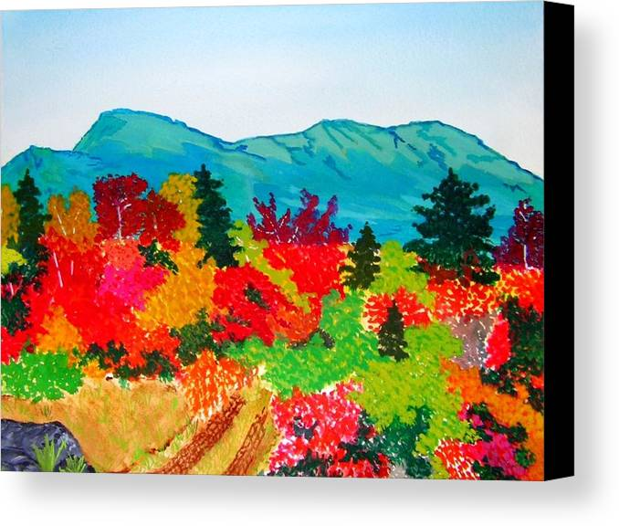 Still Life Canvas Print featuring the painting Mt. Katahdin Maine by Katina Cote