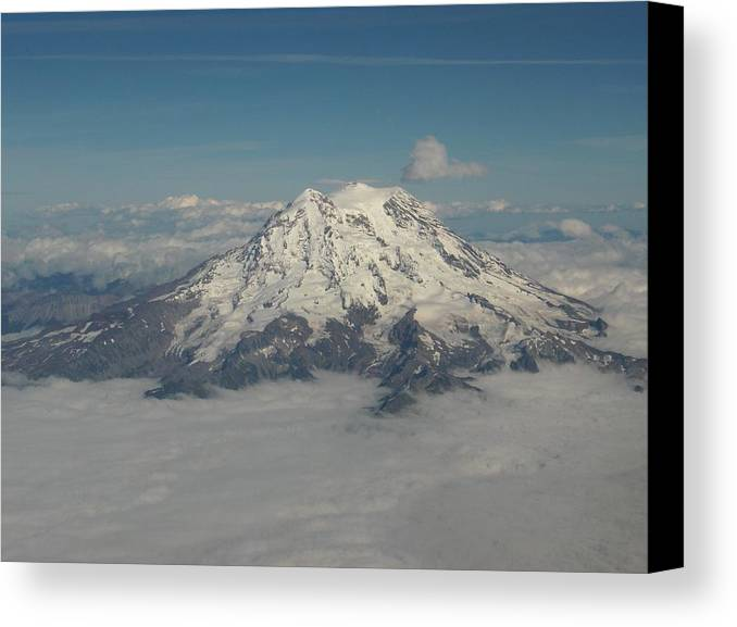 Mountain Canvas Print featuring the photograph Mt Ranier by Janet Hall