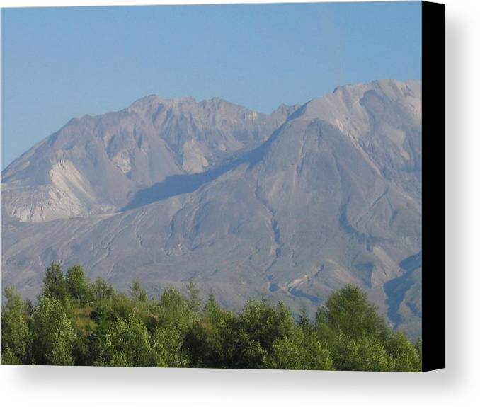 Canvas Print featuring the digital art Mt St Helen's by Barb Morton