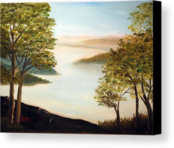 Mudfork Canvas Print featuring the painting Mudfork by Phil Burton