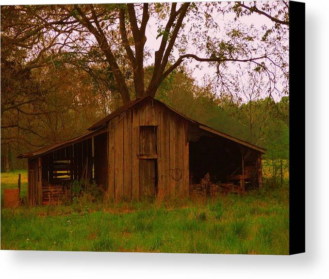 Barn Canvas Print featuring the photograph My Georgia Barn by Judy Waller
