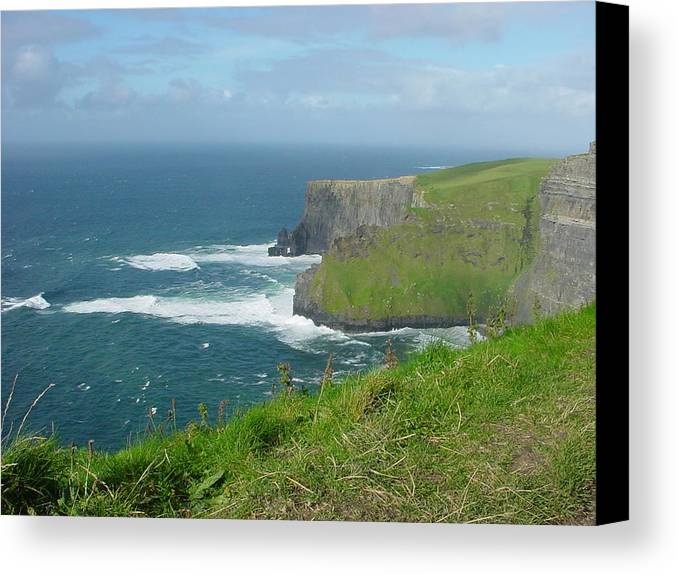Cliffs Of Mohr Canvas Print featuring the photograph Mystical Cliffs by PJ Cloud