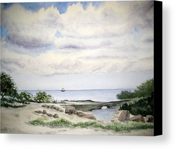 Natalie Canvas Print featuring the painting Natalie's Beach by Julia RIETZ