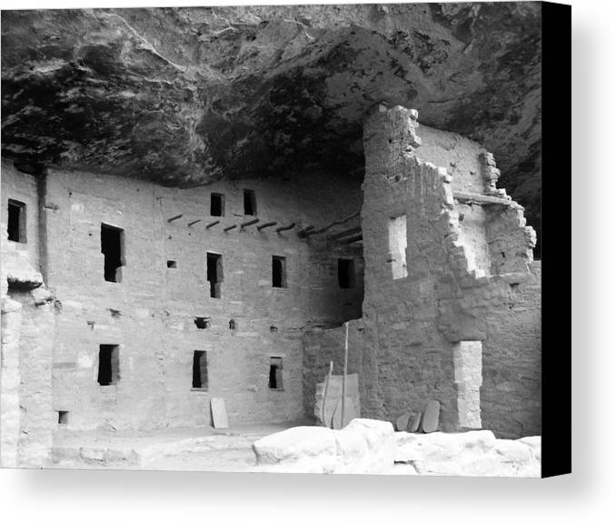 Colorado Canvas Print featuring the photograph Native American Dwellings by Peter McIntosh