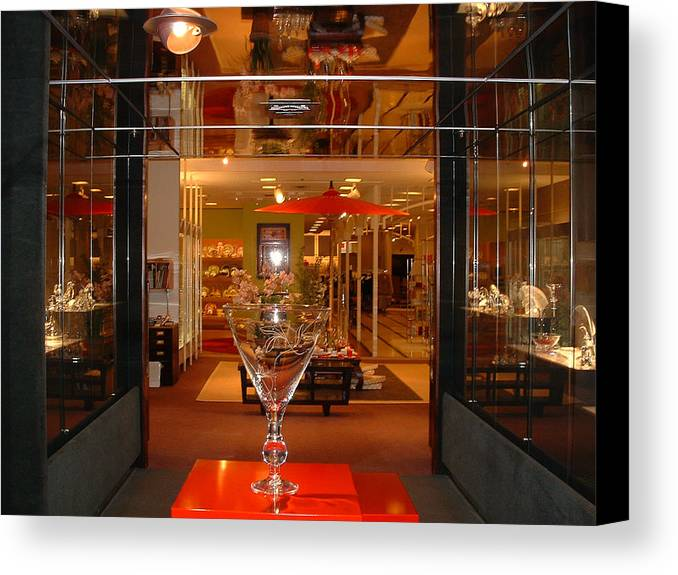 Crystal Department Canvas Print featuring the photograph Neiman Marcus by Diane Wallace