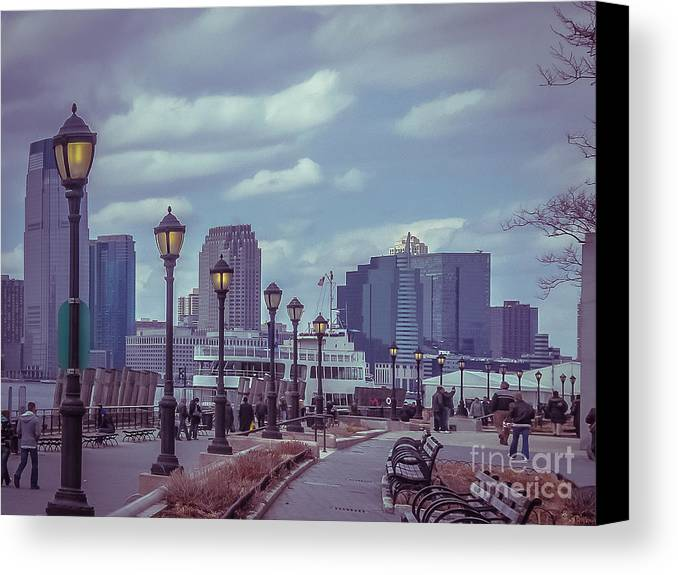 Urban Canvas Print featuring the photograph New York by Claudia M Photography