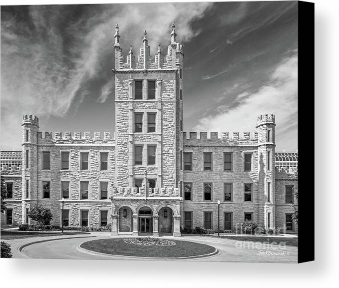 Altgeld Hall Canvas Print featuring the photograph Northern Illinois University Altgeld Hall by University Icons