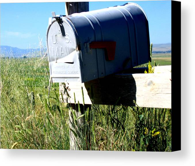 Mailbox Canvas Print featuring the photograph Note For You by Diane Wallace