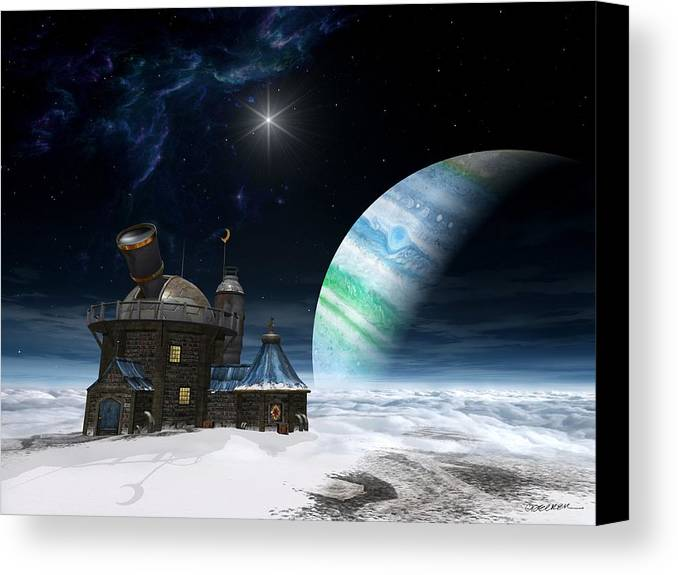 Space Canvas Print featuring the digital art Observatory by Cynthia Decker